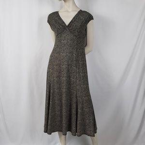 Evan-Picone Midi Dress Women's Size 8 Cap Sleeve